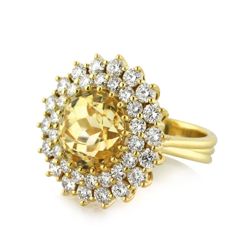 Buy Sheetal Impex Certified 1.08 Tcw Real Natural Round Cut Diamonds 18kt Yellow Gold Ring - R00370 online