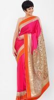 Buy Try N Get Bollywood Replica Mandira Bedi Pink Heavy Stylish Designer Saree online