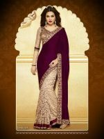 Buy Mahi Velvet Designer Bollywood Replica Saree 1175_1 online