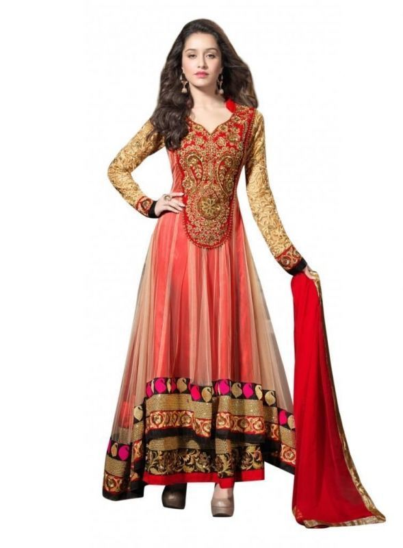 Buy Kia Fashions Red Color Juhi's Dress online