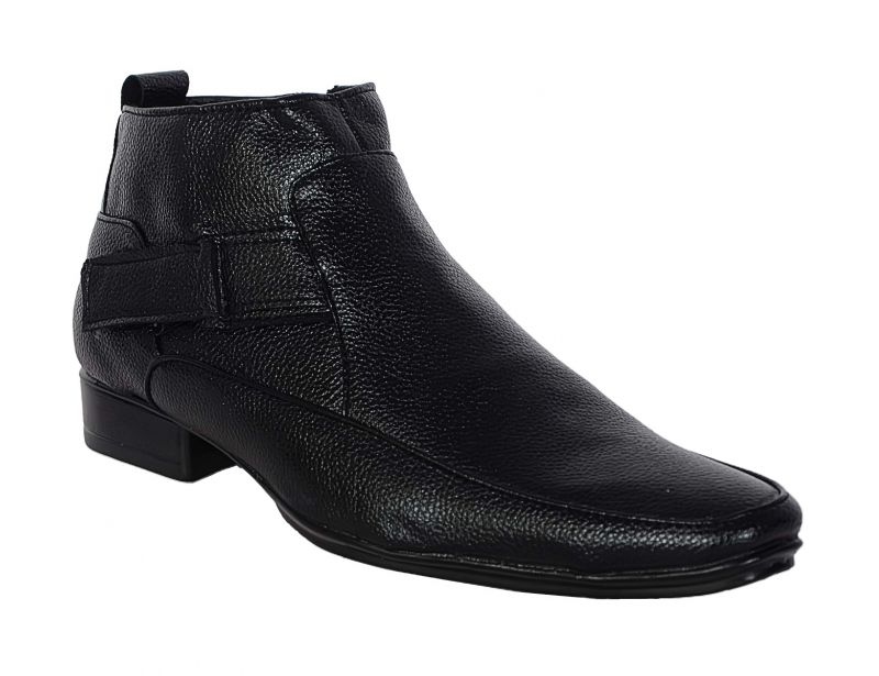 Buy George Adam Mens Synthetic Leather High-class Black Boots (code - 1601_black_boots) online