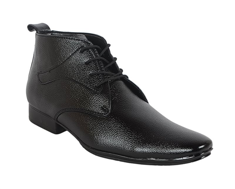 Buy George Adam Mens Synthetic Leather Office Black Boots online