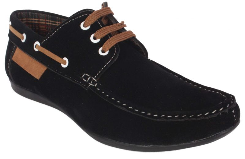 Buy George Adam Mens Synthetic Leather Black Loafers online