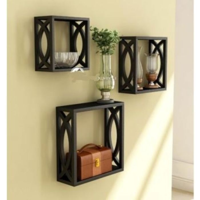 Buy Onlineshoppee Home Decor Premium Solid Wood Shelf Rack Wall Bracket Handicr Online