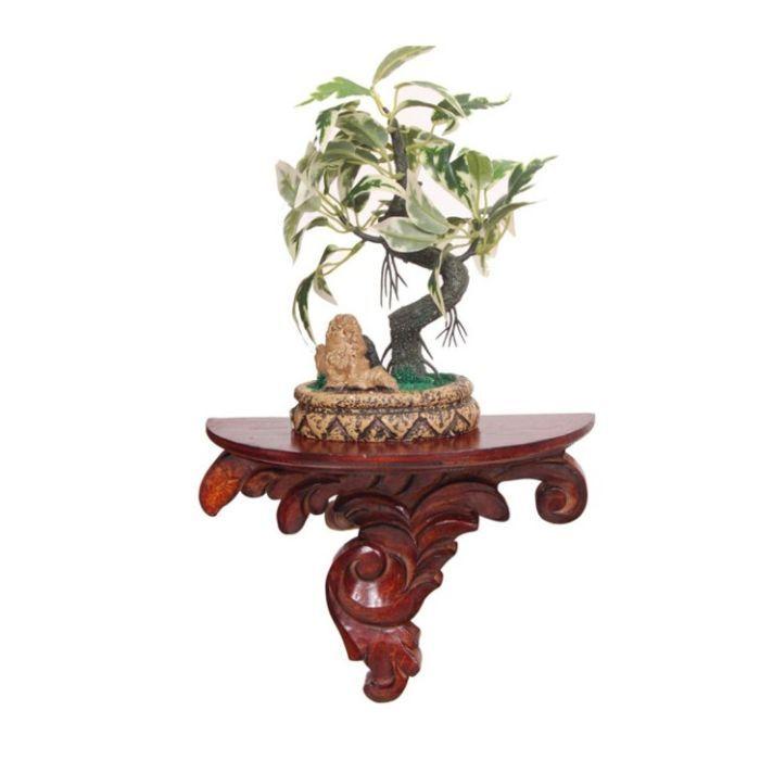 Buy Onlineshoppee Wood & Iron Wall Bracket/rack Size (lxbxh-9x4.5x7) Inch online