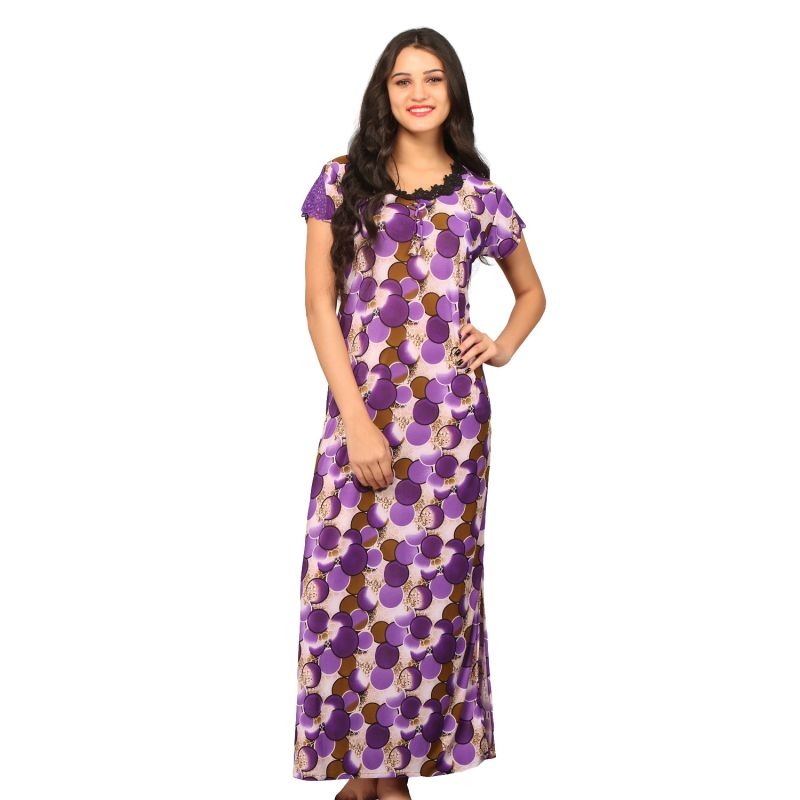 Buy De'Moda Women'S Purple Nightgown online