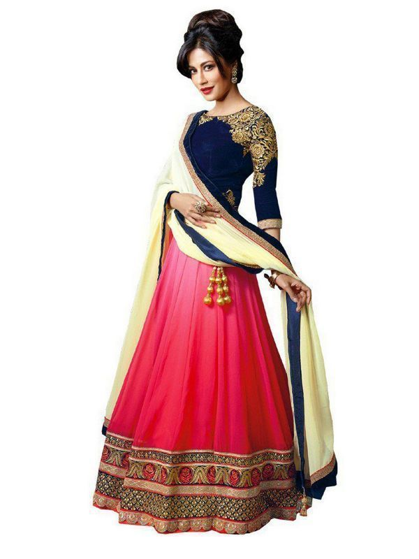 Buy Thankar Latest Arrival Designer Pink Lehenga Choli online