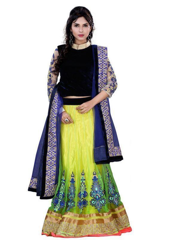 Buy Fabpandora Alluring Bollywood Designer Multicolor Lehenga Choli online