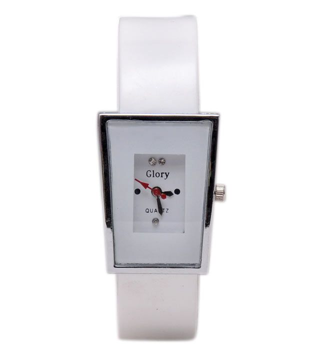Buy Fancy Glory White Designer Analogue Wrist Watch For Women online