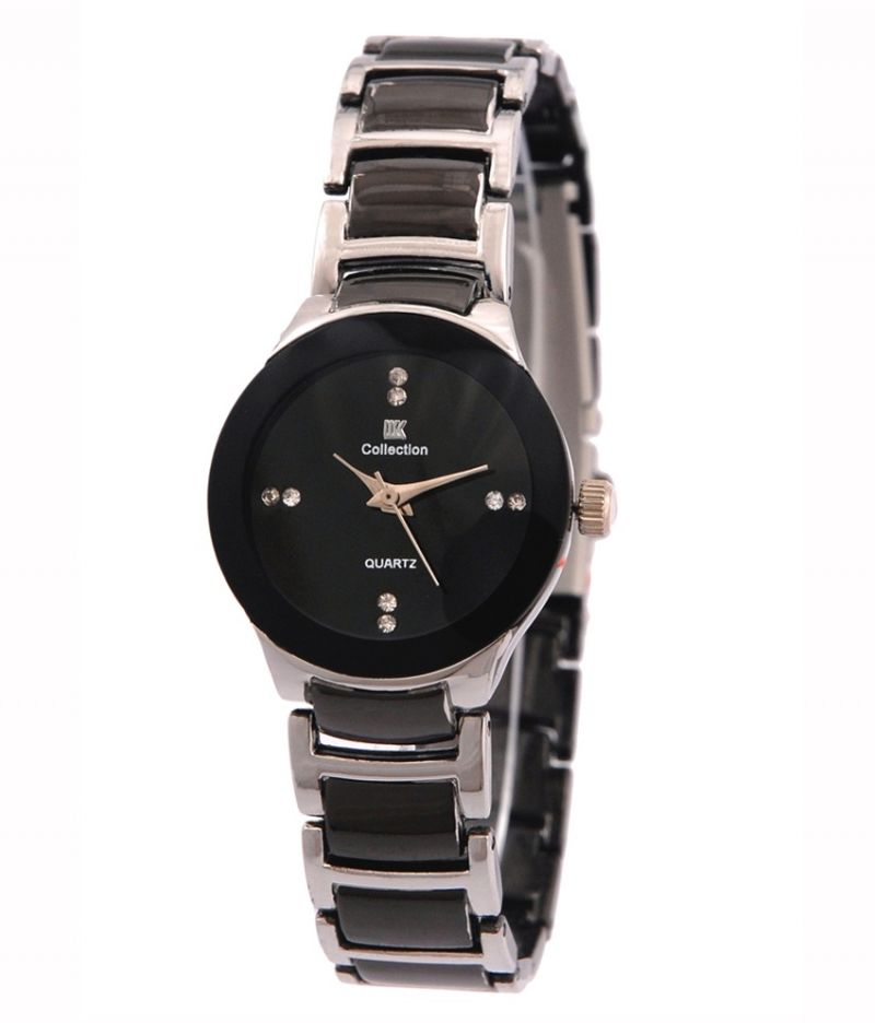 Buy Iik Collection Silver And Black Analog Watch For Woman online
