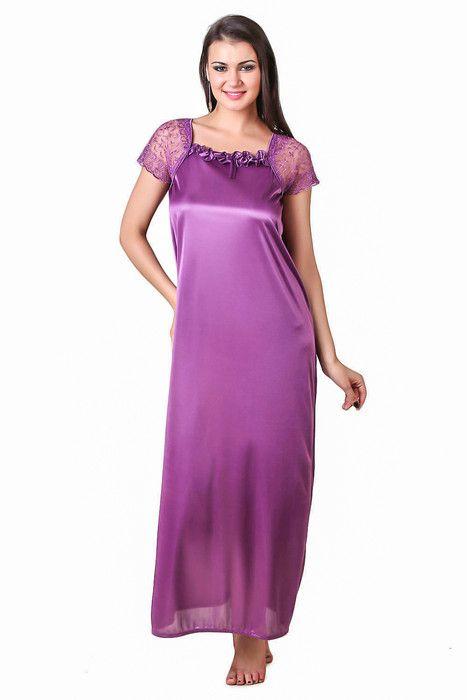 Buy Glambing Purple Nighty For Women online