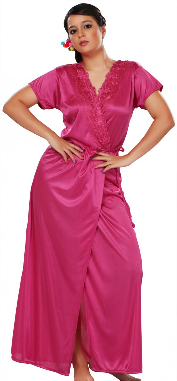Buy Glambing Nighty Set With Robe For Women online