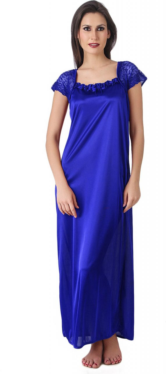 Buy Glambing Blue Nighty For Women online