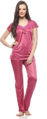 Buy Glambing Peach Nighty For Women online