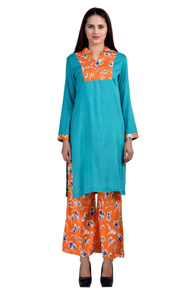 Buy Glambing Kurti & Plazo Set For Women online