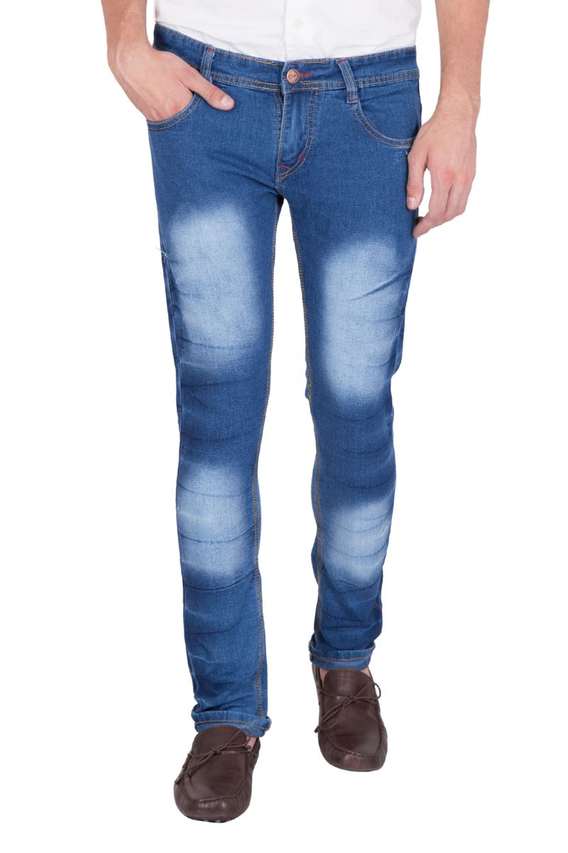 Buy Jollify Mens Cotton Blend Stretchable Light Blue Jeans (product Code - J529light Blue) online