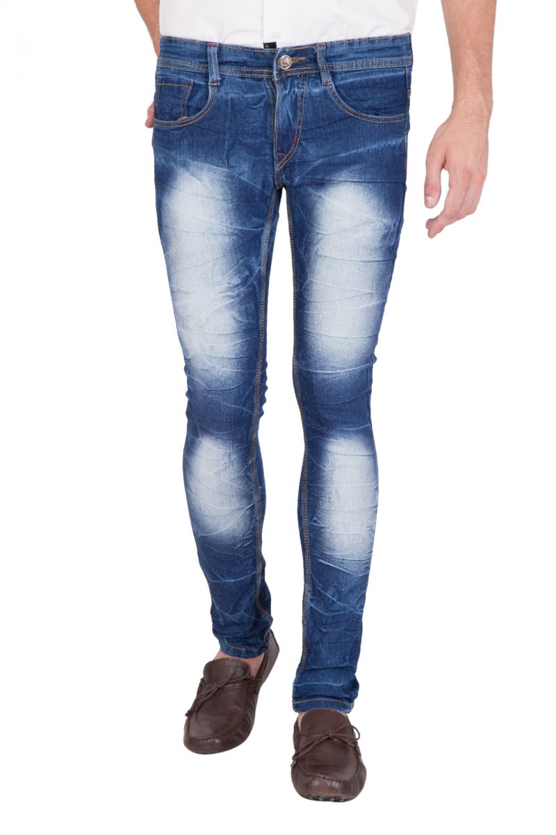 Buy Jollify Mens Cotton Blend Stretchablel Light Blue Jeans (product Code - J530light Blue) online