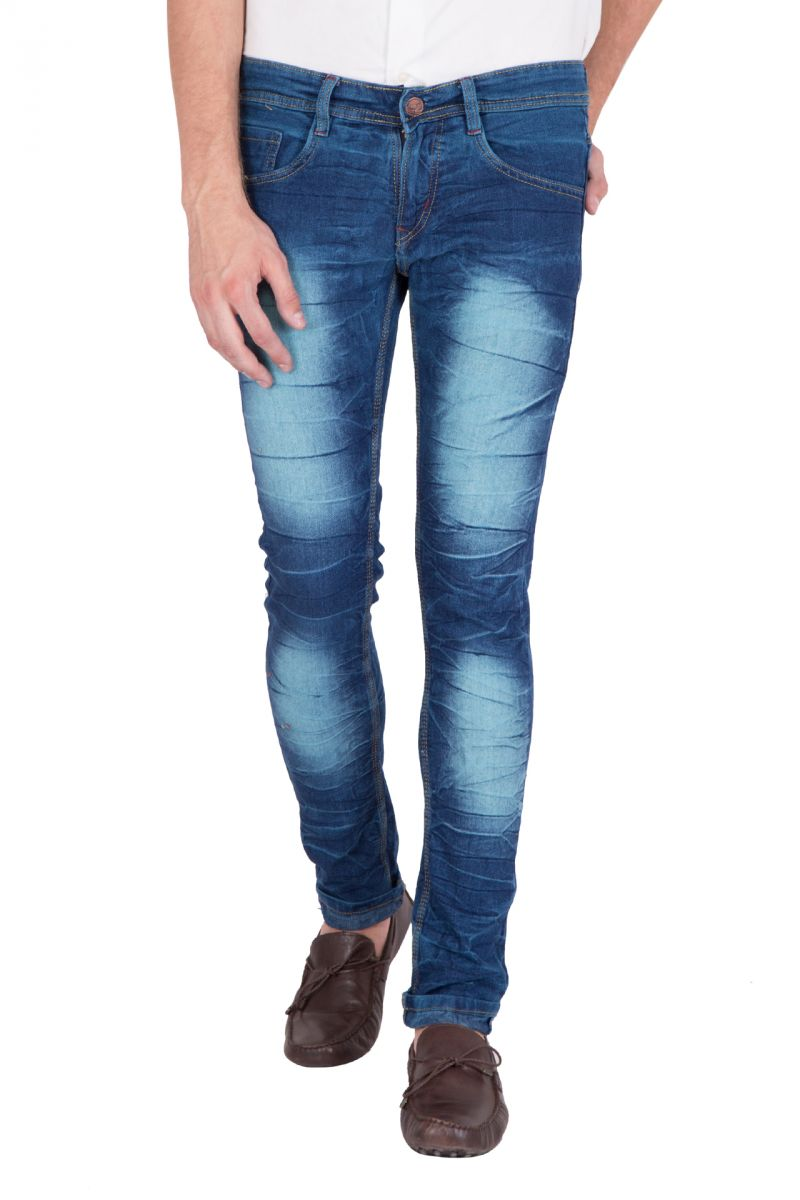 Buy Jollify Mens Cotton Blend Stretchablel P Green Jeans (product Code - J530p Green) online
