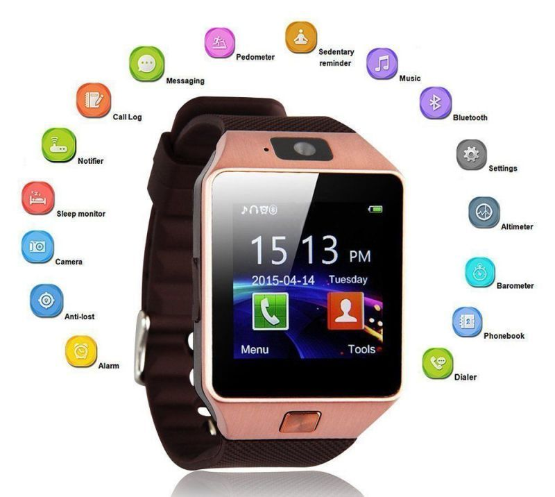 Buy Digiboom Dzo9 Smart Watch With Sim And Camera With Fitness And Health Apps online