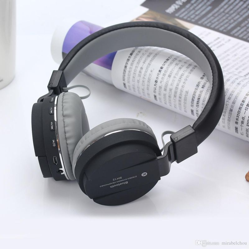 Buy HD Sh12 Bluetooth Headset Support Tf Card With FM Volume Control And Microphone online