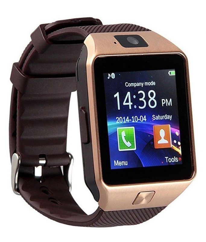 Buy Mobi Fashion Bluetooth And Fitness Tracker Smartwatch With Sim Card & Memory Card Support - Brown online