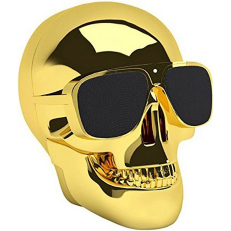 Buy Spider Designs Skull Speaker Gold Sd-007 online