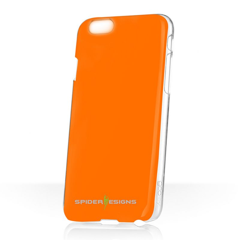 Buy Spider Designs Stickm Anti-gravity Selfie Case Magical Nano Sticky- iPhone 5 Orange online