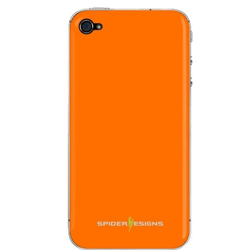 Buy Spider Designs Stickm Anti-gravity Selfie Skin Magical Nano Sticky- iPhone 5 Orange online