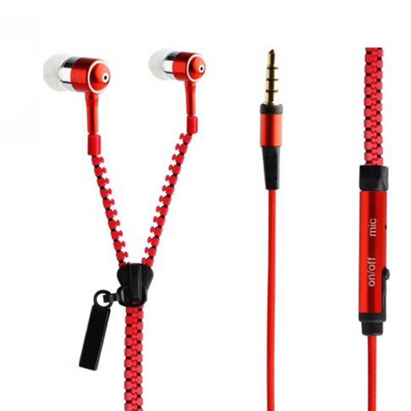 Buy Spider Designs Zip Base Bomb Earphone Red online