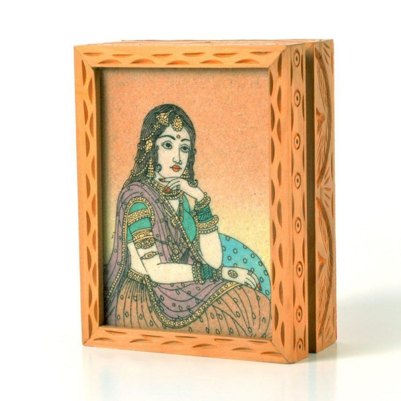 Buy Vivan Creation Precious Gemstone Painting Jewelry Box Gift -123 online
