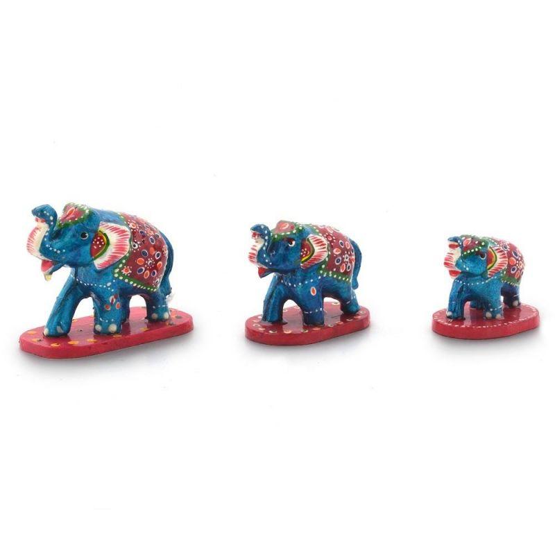 Buy Vivan Creation Paper Mache 3 Piece Elephant Home Decor Gift -159 online