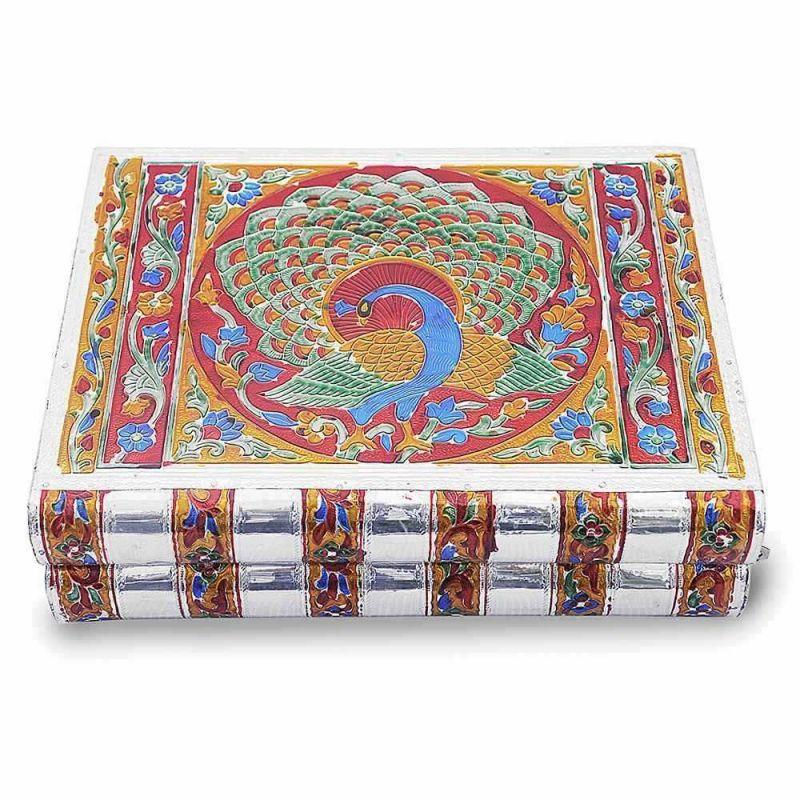 Buy Vivan Creation Metal Colorful Meenakari Work Jewellery Box -174 online