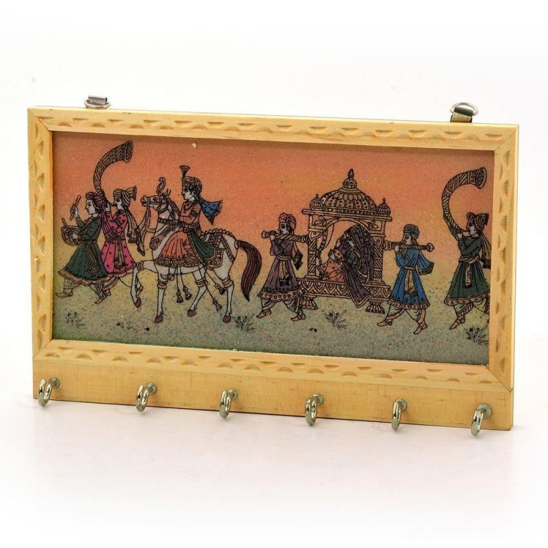 Buy Vivan Creation Gemstone Painting 6 Key Hanger Handicraft Gift 213 online