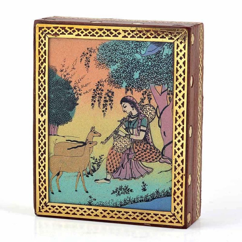 Buy Vivan Creation Meera Gemstone Painting Wooden Jewelry Box 257 online
