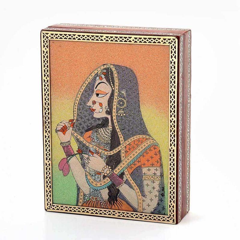 Buy Vivan Creation Gemstone Powder Bani Thani Painting Wooden Box 259 online