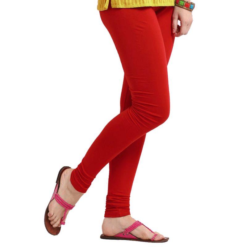Buy Vivan Creation Women Pretty Stylish Red Color Comfortable Cotton Churidaar Leggings (product Code - Dli5lch216) online