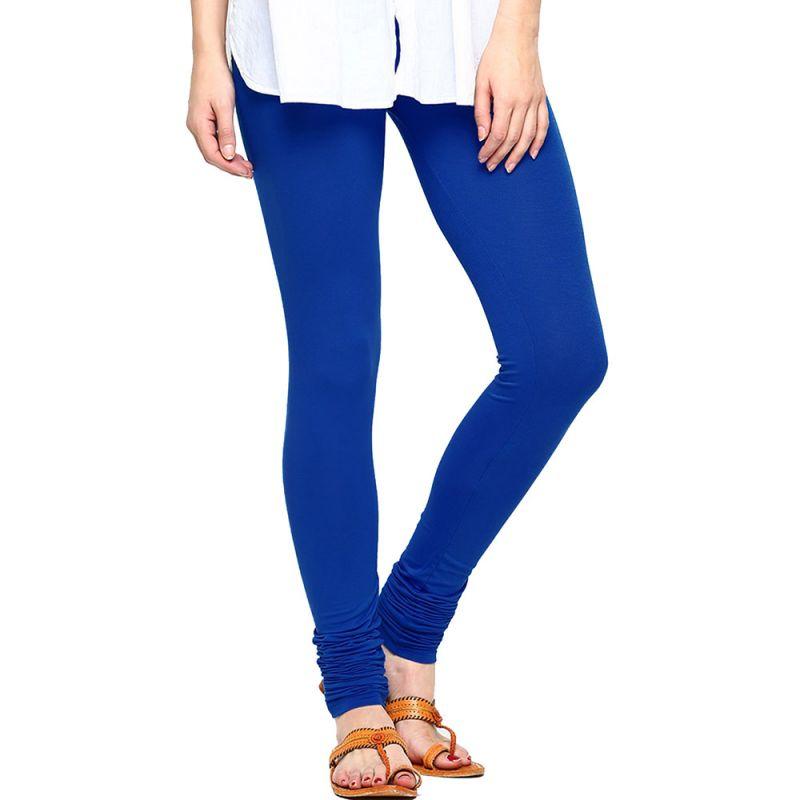Buy Vivan Creation Women Stylish Royal Blue Color Comfortable Cotton Churidaar Leggings (product Code - Dli5lch219) online