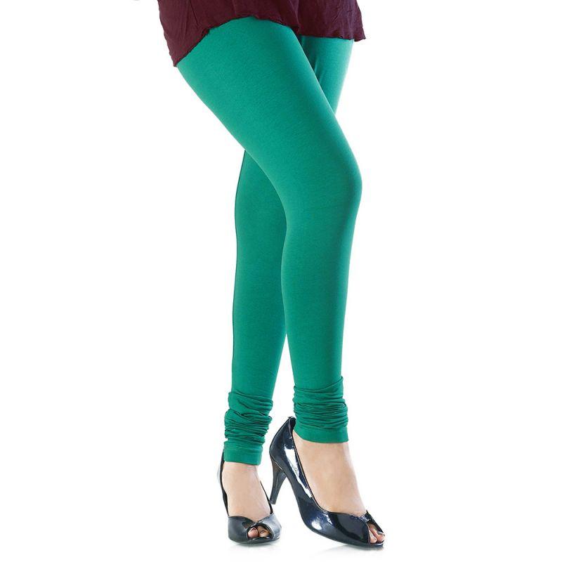 Buy Vivan Creation Women Stylish Fancy Aqua Color Comfortable Cotton Churidaar Leggings (product Code - Dli5lch227) online