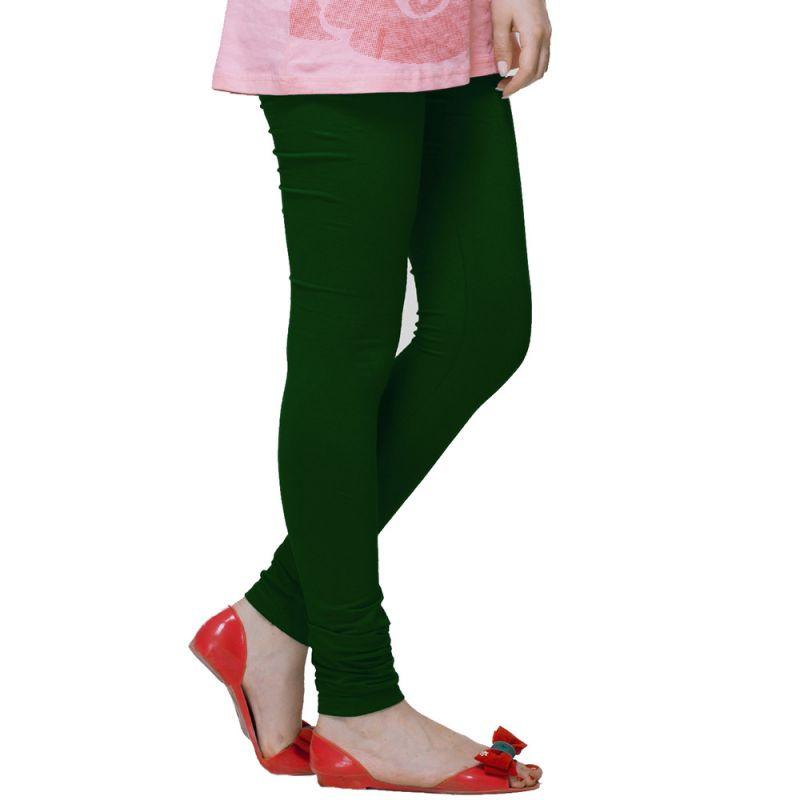 Buy Vivan Creation Women Stylish Sexy Green Color Comfortable Cotton Churidaar Leggings (product Code - Dli5lch228) online