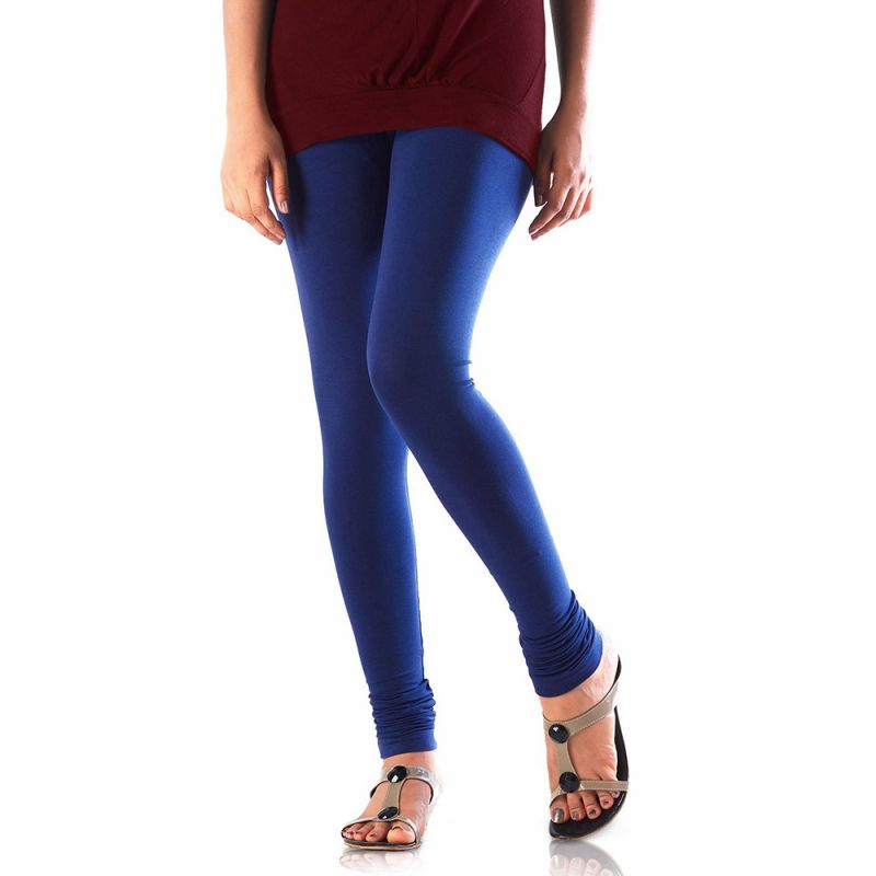Buy Vivan Creation Women Stylish Royal Blue Color Comfortable Cotton Churidaar Leggings (product Code - Dli5lch229) online