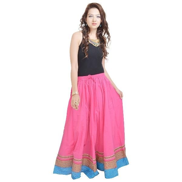 Buy Vivan Creation Shree Mangalam Mart Beautiful Pink-Skirt-Designer In Bottom Free Size online