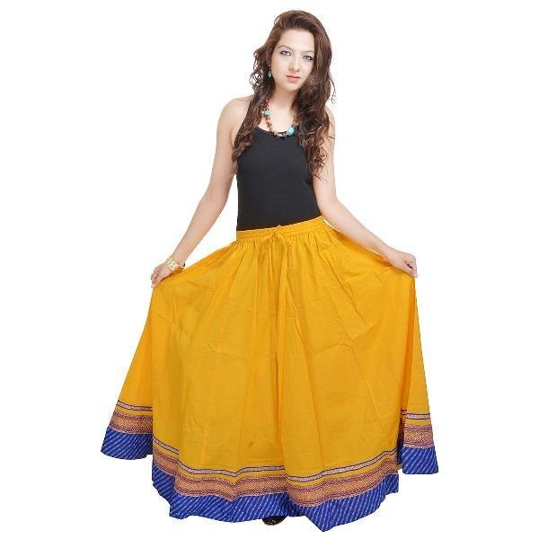 Buy Vivan Creation Shree Mangalam Mart Yellow Designer Skirt Free Size (product Code - Smskt505) online