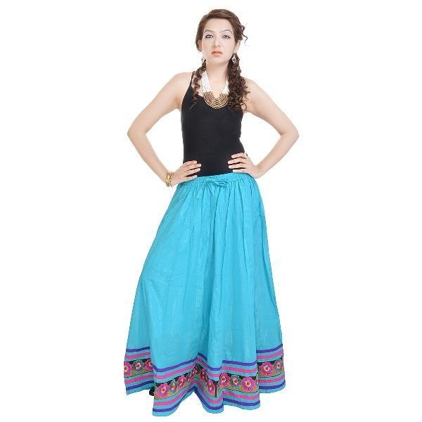 Buy Vivan Creation Rajasthani Beautiful Sea Green Designer Skirt Free Size (product Code - Smskt519) online