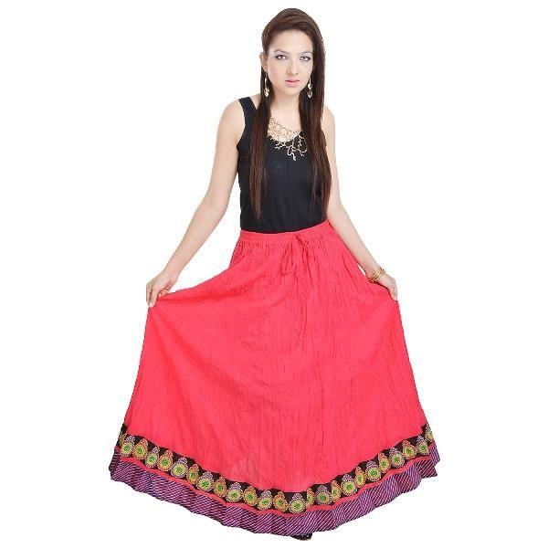 Buy Vivan Creation Rajasthani Pink Cotton Long Lehenga Free Size (product Code - Smskt550) online