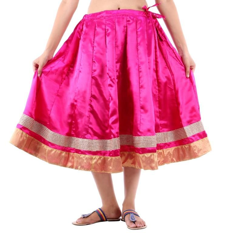 Buy Vivan Creation Shree Mangalam Marti Short Satin Lehenga Free Size (product Code - Smskt603) online