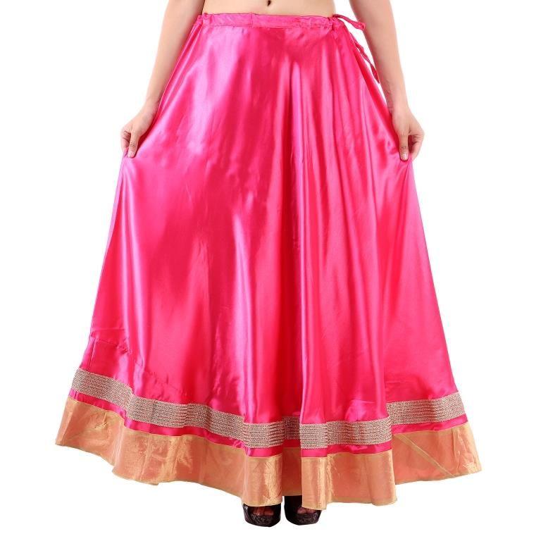 Buy Vivan Creation Shree Mangalam Mart Traditional Satin Full Lehenga Free Size (product Code - Smskt610) online