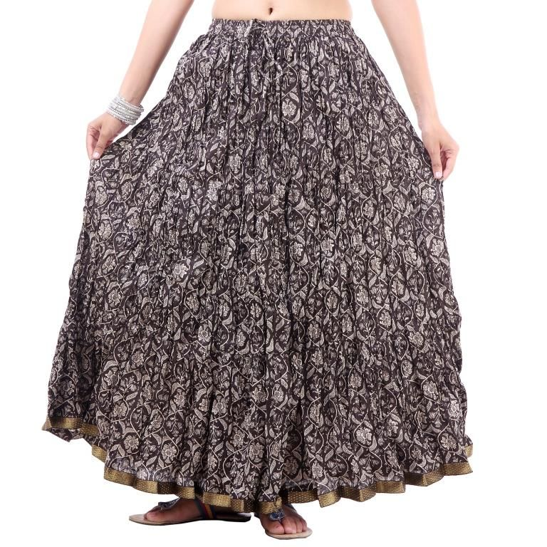 Buy Vivan Creation Shree Mangalam Mart Multicolor Printed Skirt Free Size (product Code - Smskt637) online