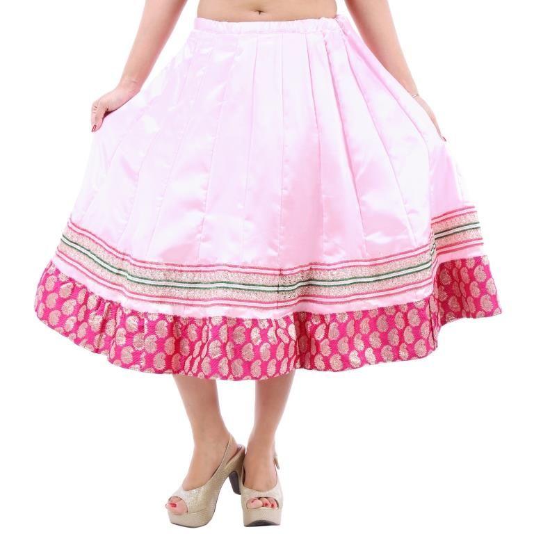 Buy Vivan Creation Shree Mangalam Mart Designer Satin Short Lehenga Free Size (product Code - Smskt745) online