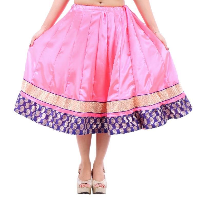 Buy Vivan Creation Shree Mangalam Mart Designer Satin Short Lehenga Free Size (product Code - Smskt746) online