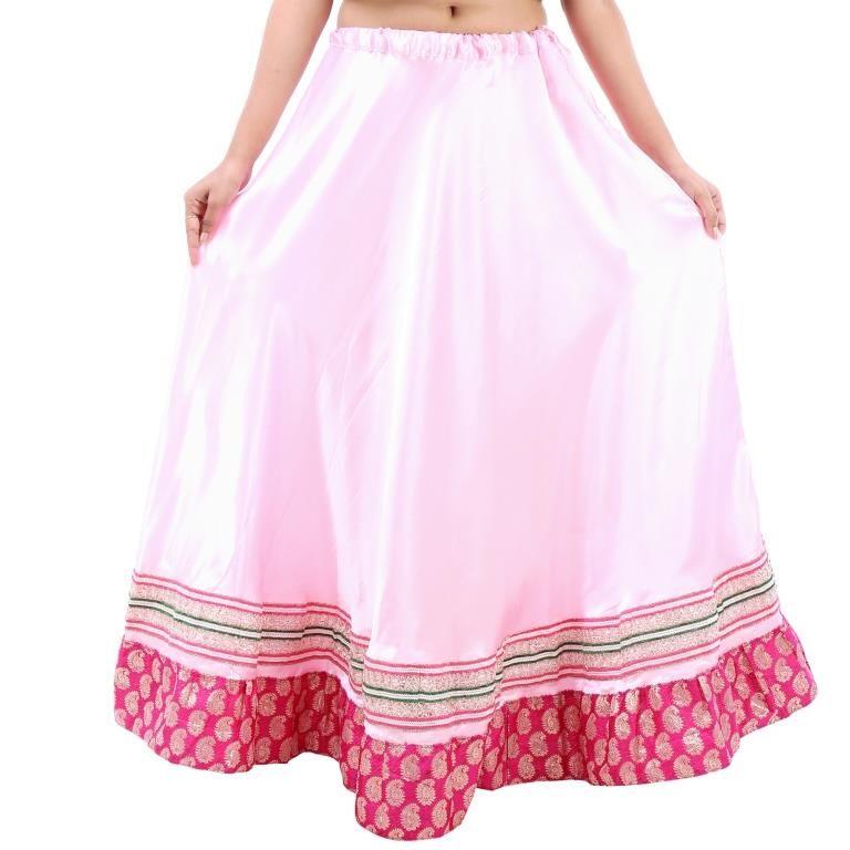 Buy Vivan Creation Shree Mangalam Mart Designer Satin Long Lehenga Free Size (product Code - Smskt750) online